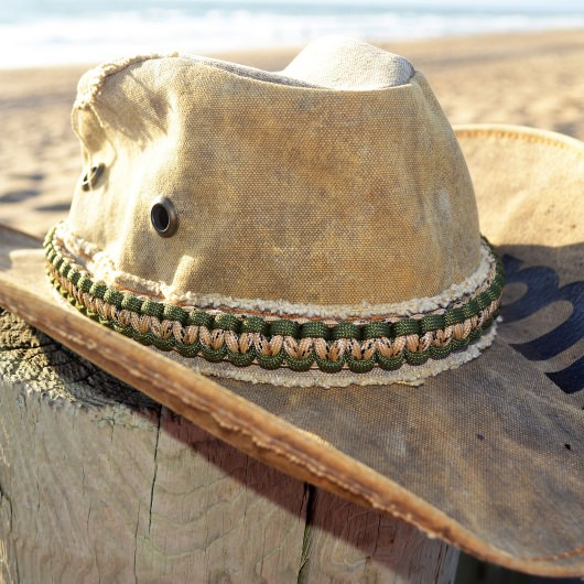 Paracord Desert Camo Hat Band