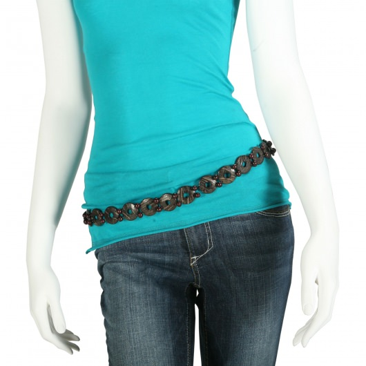 Belt Thin with Dark Beads